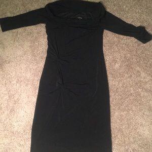 Laundry By Shelli Segal Dresses - Black off the shoulder dress